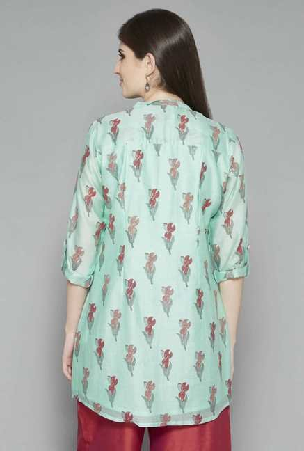 Zuba by Westside Green Printed Kurti