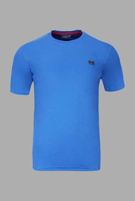 Doone Blue Solid Training T Shirt