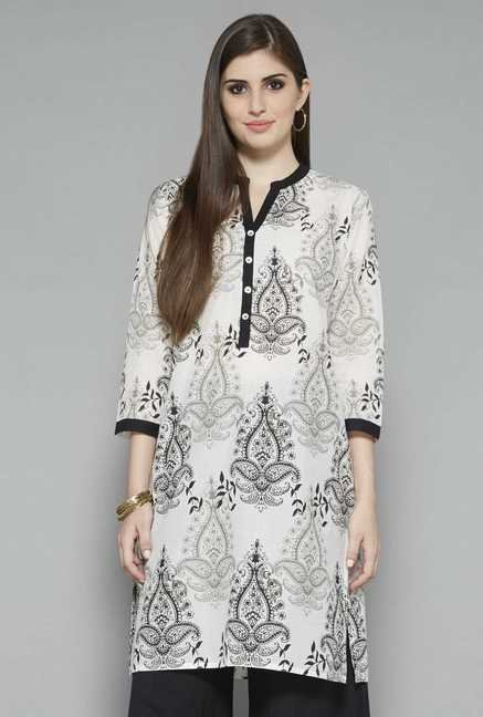 Utsa by Westside Off White Paisley Kurta