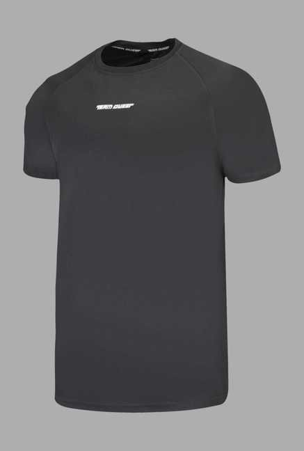 Team Quest Grey Solid Football T Shirt