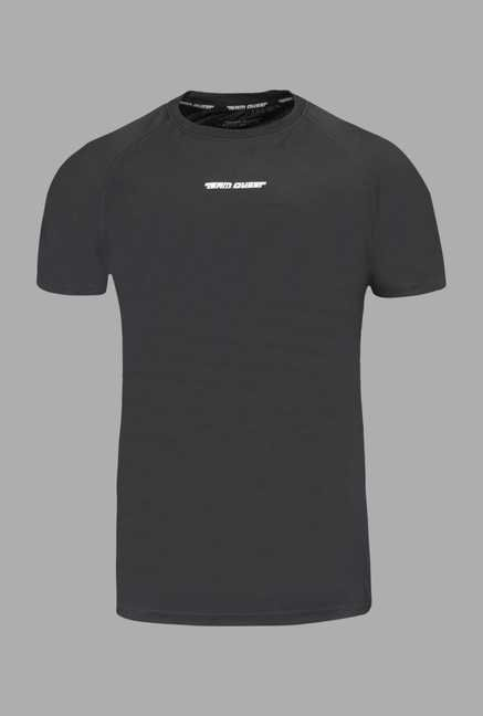 15aeec596a Buy Team Quest Grey Solid Football T Shirt Online at best price at TATACLiQ
