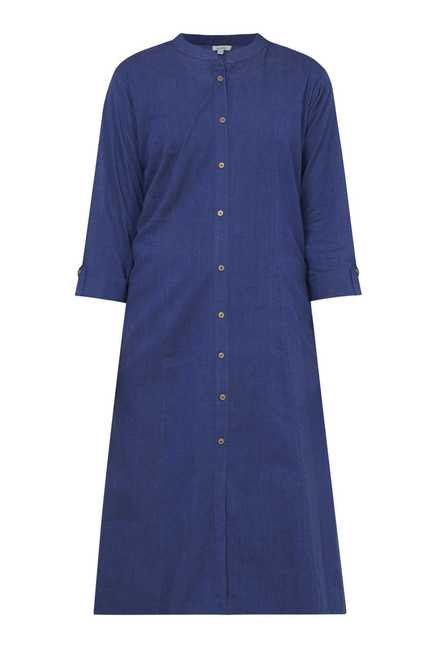 Zudio Navy Solid Kurta