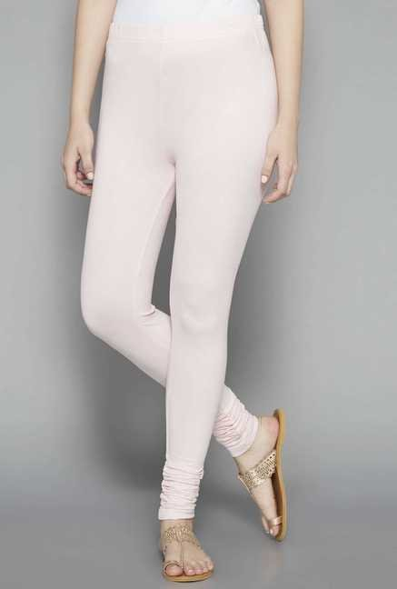 Zuba by Westside Light Pink Skinny Fit Leggings