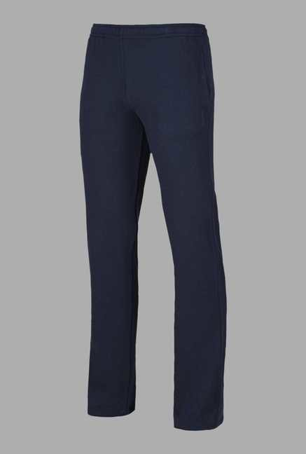 Doone Navy Solid Training Trackpants