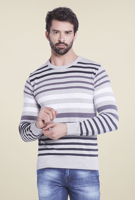 Globus Grey Striped Sweatshirt