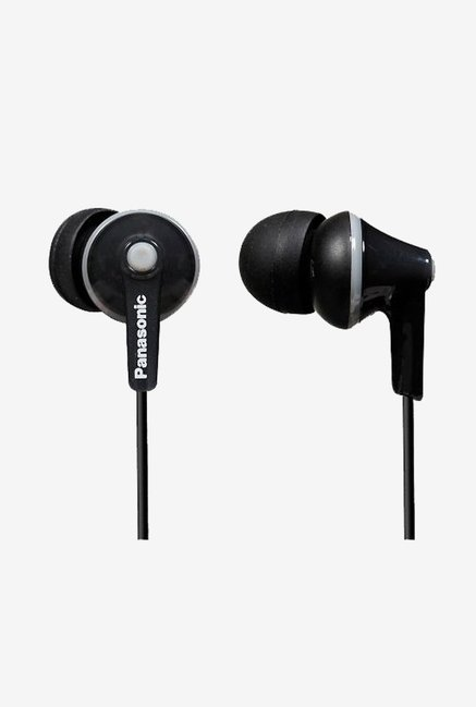 Panasonic RP-HJE125E-K In The Ear Headphones (Black)
