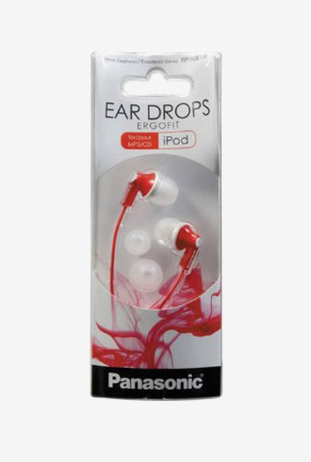 Panasonic RP-HJE125E-R In The Ear Headphones (Red)