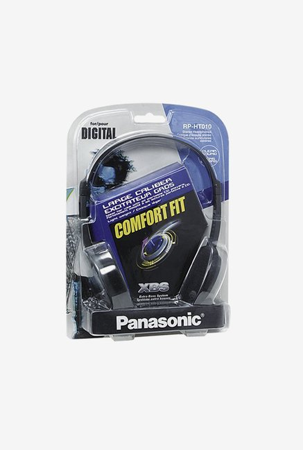Panasonic RP-HT010GU-K On The Ear Headphones (Black)