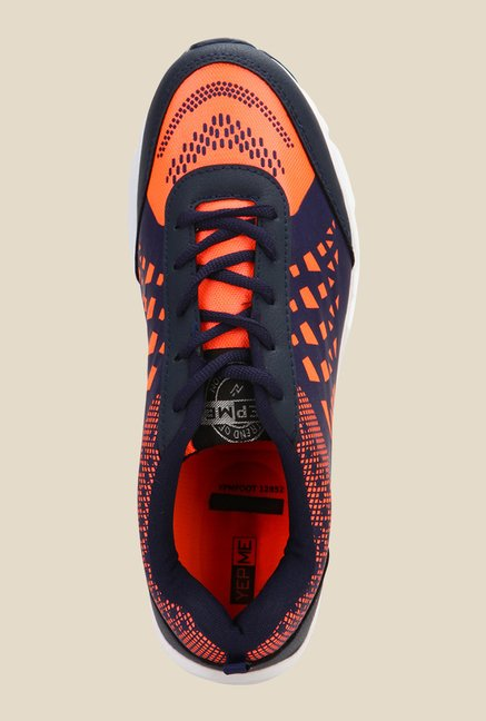 Yepme Orange & Navy Running Shoes