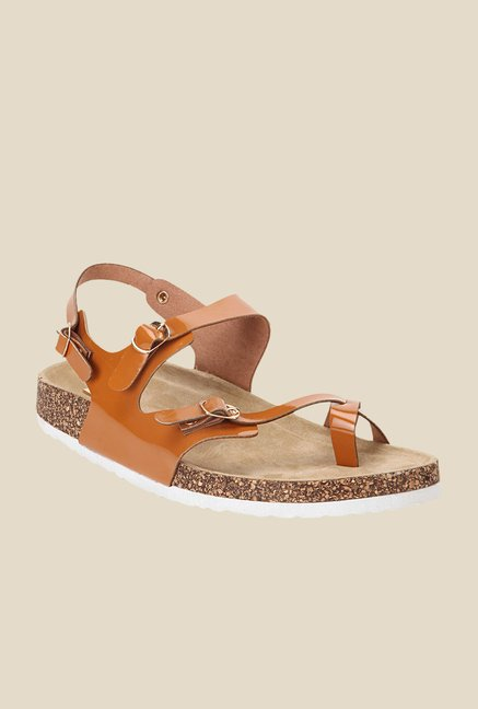 Yepme Brown Back Strap Sandals