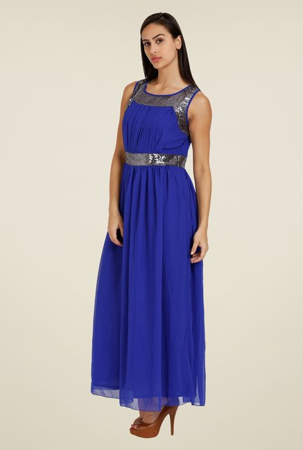 Forever Fashion Blue Embellished Dress