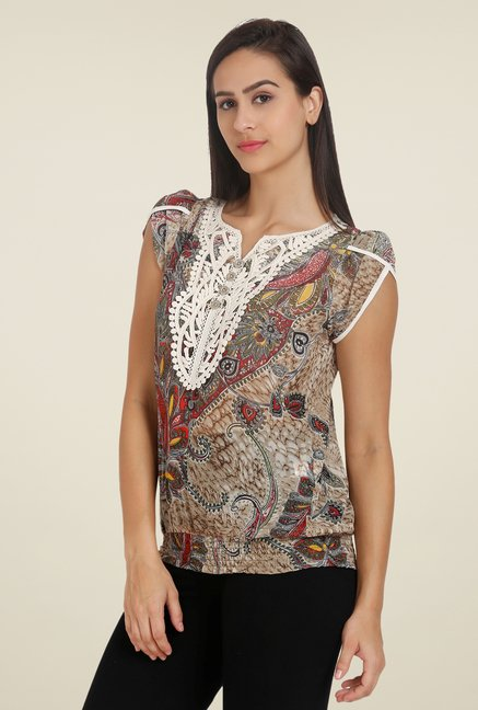 Forever Fashion Brown Printed Tunic