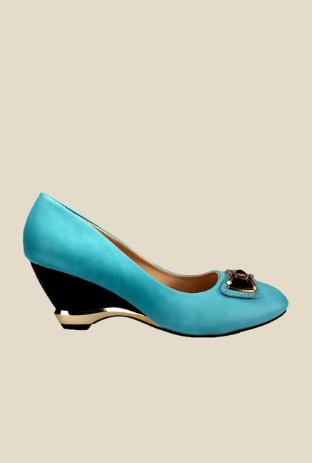Yepme Blue Wedge Heeled Pumps