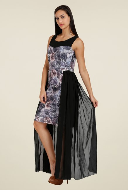 Forever Fashion Grey Printed Dress