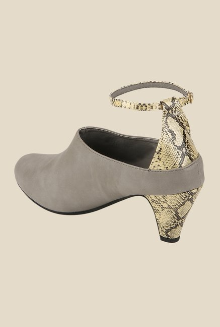 Yepme Grey Ankle Strap Shoes