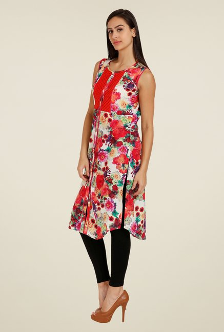 Forever Fashion Multicolor Floral Print Tunic