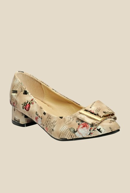 Yepme Beige Block Heeled Pumps