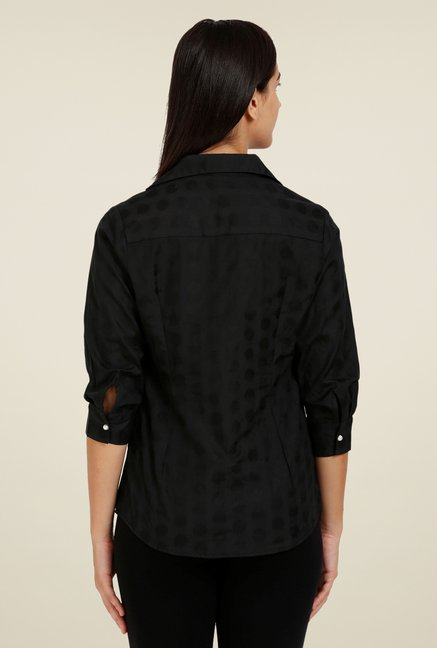 Forever Fashion Black Jacquard Shirt