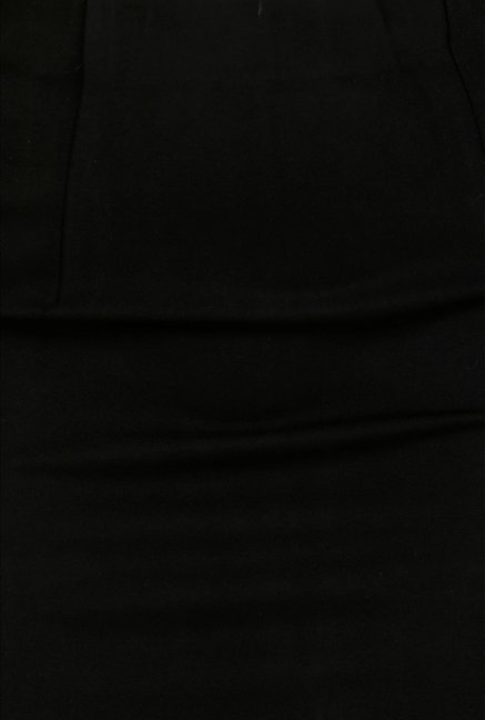 Forever Fashion Black Solid Skirt