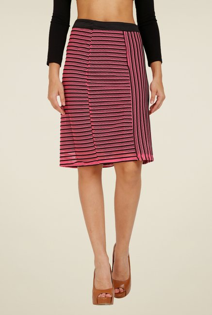 Forever Fashion Pink Textured Skirt