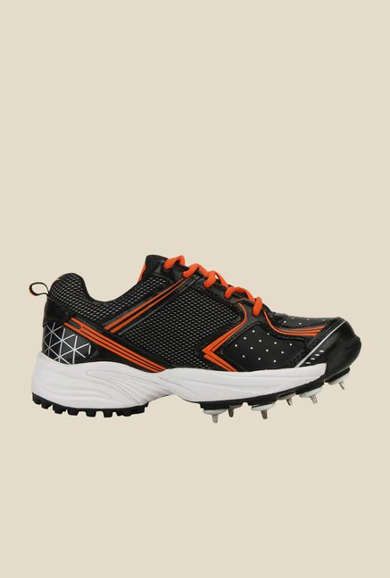 Yepme Black & Orange Cricket Shoes
