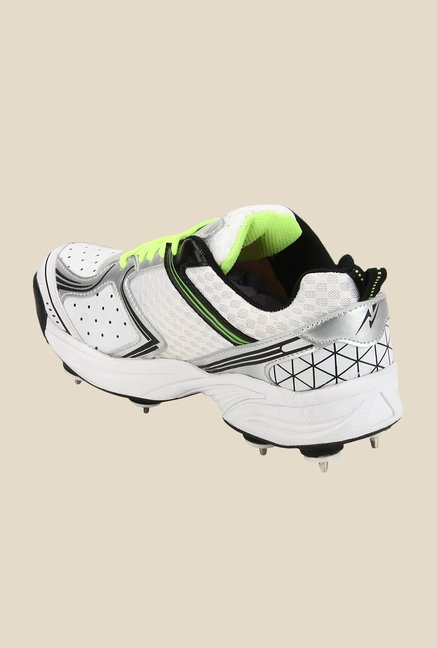 Yepme White & Green Cricket Shoes