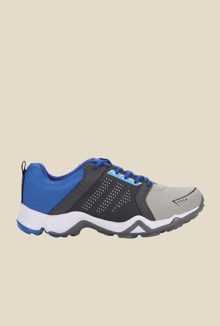 Yepme Grey & Blue Running Shoes