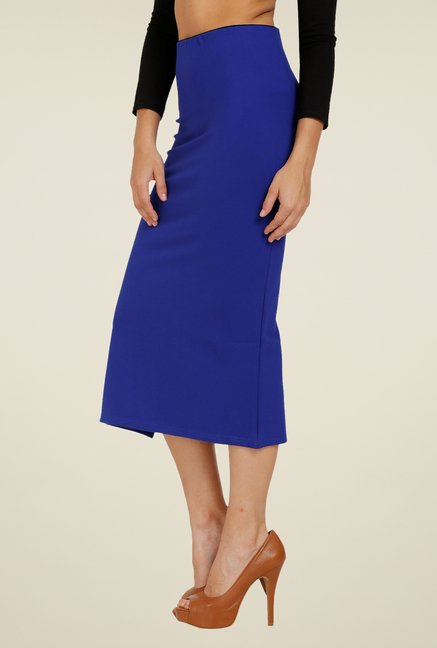 Forever Fashion Royal Blue Solid Skirt