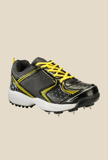 Yepme Black & Yellow Cricket Shoes