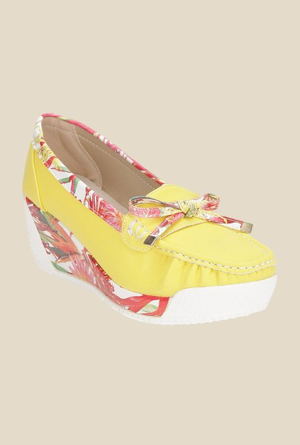 Yepme Yellow Wedge Loafers