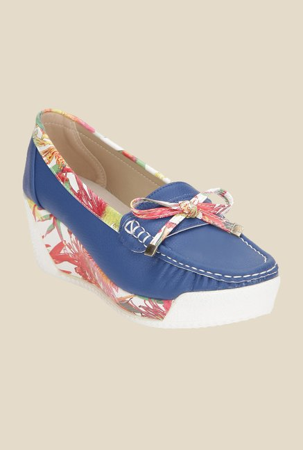 Yepme Navy Wedge Loafers