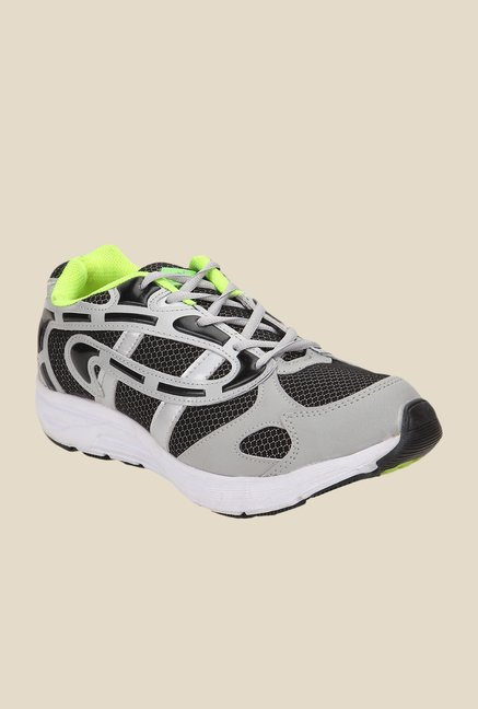 Yepme Grey & Black Running Shoes