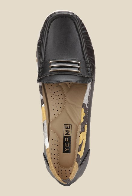 Yepme Black Wedge Loafers
