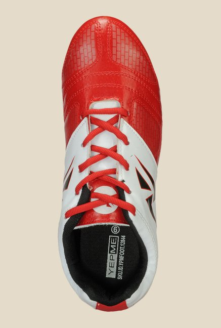 Yepme Red & White Football Shoes