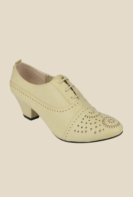 Yepme Beige Brogue Casual Shoes