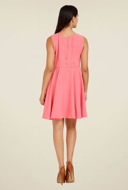 Forever Fashion Pink Solid Dress