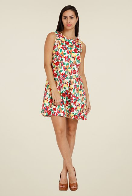 Forever Fashion Multicolor Floral Print Dress