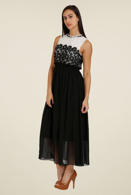Forever Fashion Black Crochet Dress