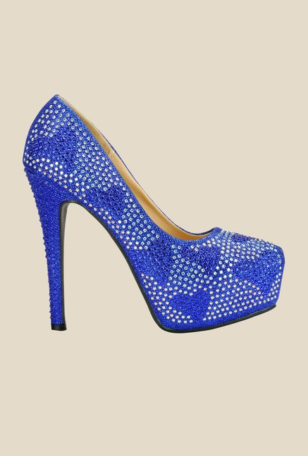 Yepme Blue Stiletto Pumps