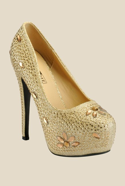 Yepme Golden Stiletto Pumps