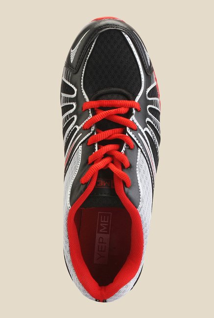 Yepme Red & Black Running Shoes