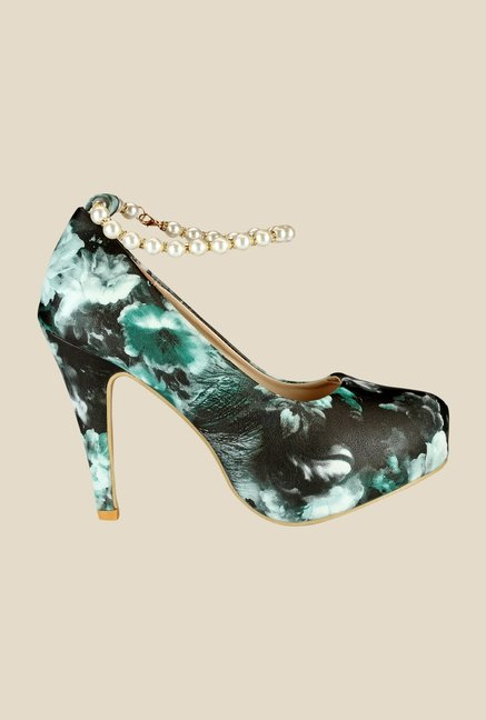 Yepme Black & Green Stiletto Pumps