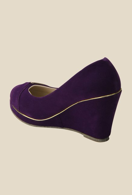 Yepme Purple Wedge Heeled Pumps