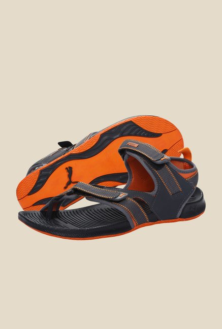 Puma Jiff II DP Dark Shadow & Zinnia Floater Sandals