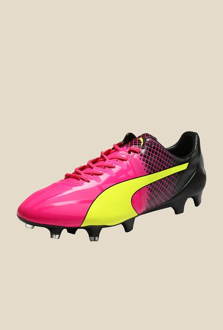 Puma evoSPEED 1.5 Tricks FG Pink Glo & Yellow Football Shoes