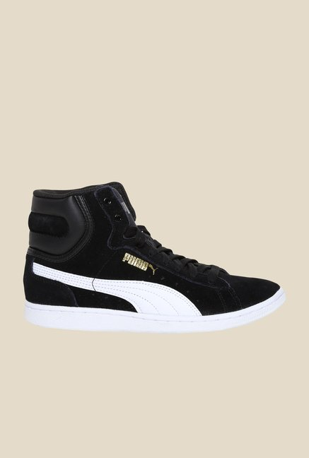 Puma Vikky Mid Black & White Sneakers