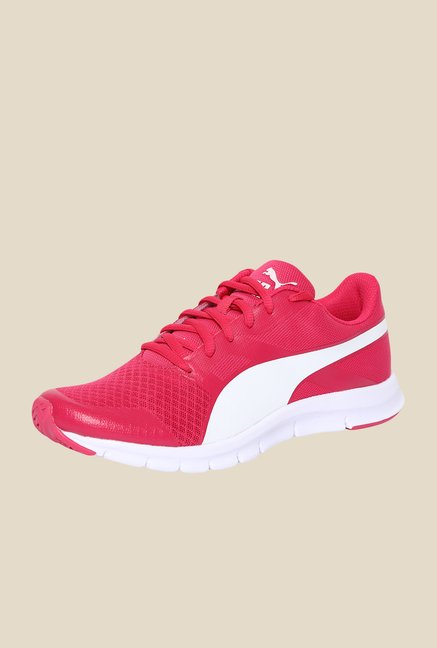 Puma Flexracer DP Rose Red & White Running Shoes