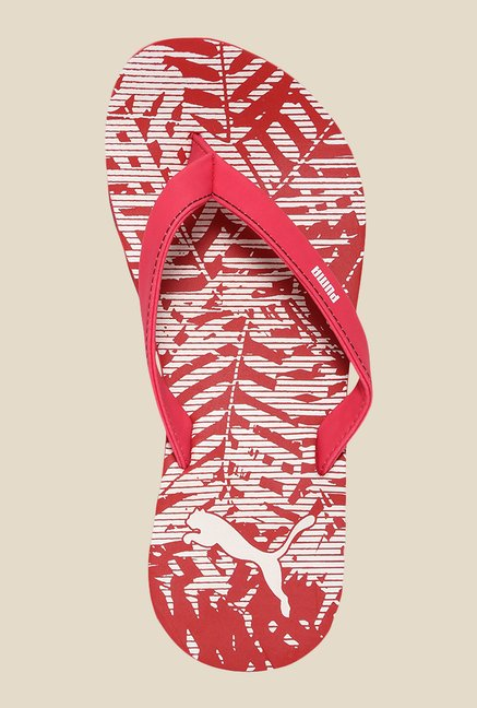 Puma Ronni DP Rose Red & White Flip Flops