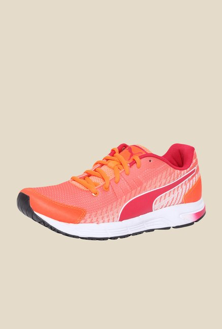 Puma Sequence v2 Wns DP Fluo Peach & Red Running Shoes