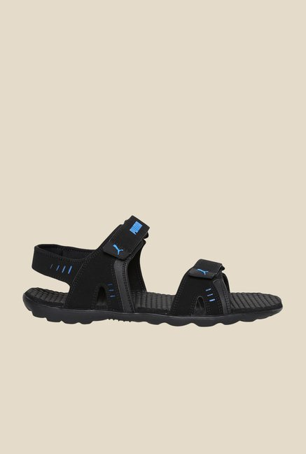 Puma Silicis Buck DP Black & French Blue Floater Sandals